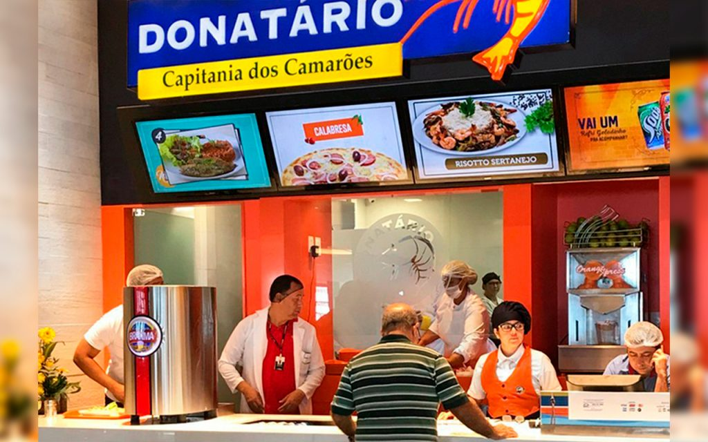 Menus Digitais em restaurante da rede Donatário