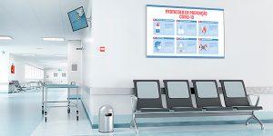 sinalização digital para sistemas de saúde