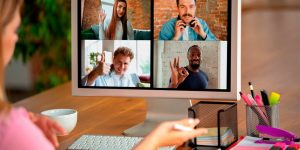 comunicação com funcionários em home office